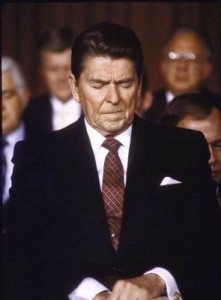 Reagan prays